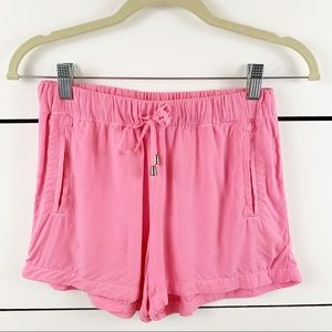 SPLENDID Rayon Voile Shorts Bright Pink Size XS
